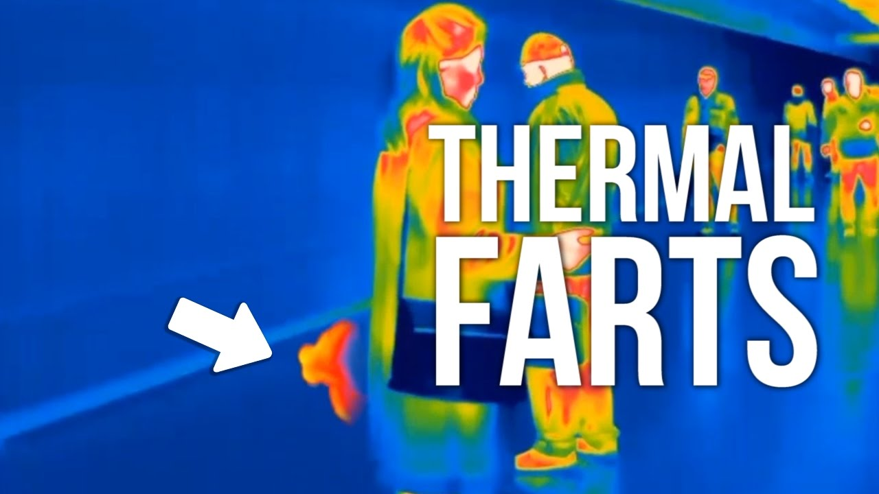 PEOPLE FARTING ON THERMAL CAMERA - YouTube