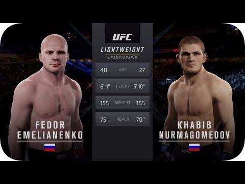 UFC 2 БОЙ Федор Емельяненко Vs Хабиба Нурмагомедова (com. Vs Com.)