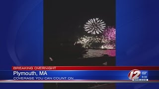 Fireworks Barge Explodes, Catches Fire in Plymouth
