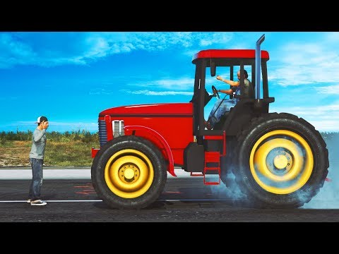 Can ONE Man Stop A Tractor?! (GTA 5 Roleplay)