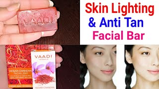 Vaadi Herbals Kesar Chandan Facial Bar 😮 With Orange Peel Skin Lightening  || Beauty With Easy Tips