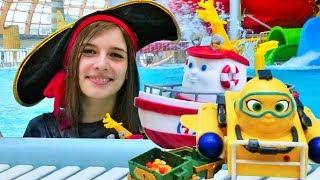 Кораблик Элаяс и аквапарк. Ищем сокровища. Видео для детей