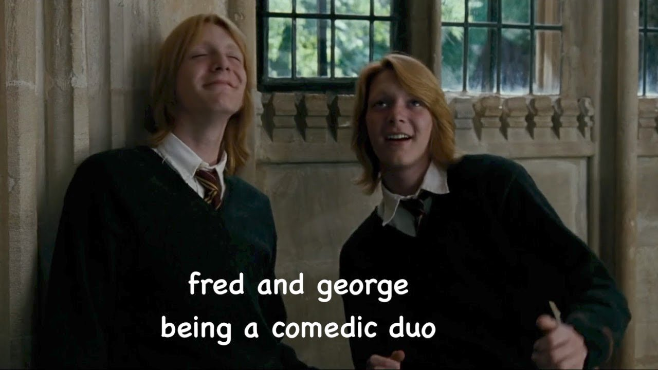 Download fred and george being a comedic duo