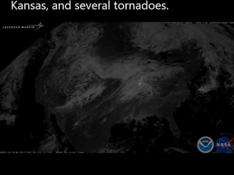 GOES 16 Lightning Data of deadly April 28 May 1 Storms