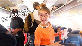 13 year old flying WITHOUT PARENTS *first time*