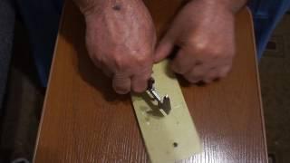 Разметка  фланца  штангенциркулем.