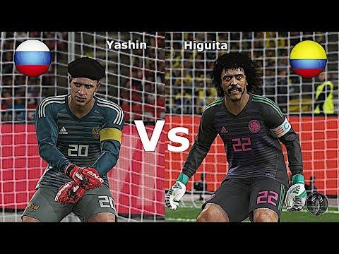Lev Yashin (Russia) Vs René Higuita Colombia • Calci Di Rigore • PES 2019 Patch [Giù]
