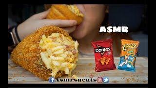 Asmr Mac and Cheese Cones (Covered w/ Doritos and Cheetos) Asmr Sa Eats