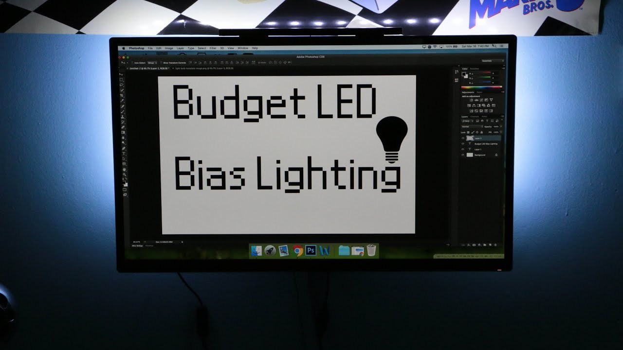 Best Budget LED Bias Lighting For Your Desk - Arvidsson LED Kit & I Can See The Light! Best Budget LED Bias Lighting For Your Desk ...