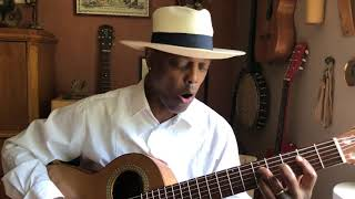 Eric Bibb plays on Daniel Stark Baritone guitar, I want Jesus to walk with me