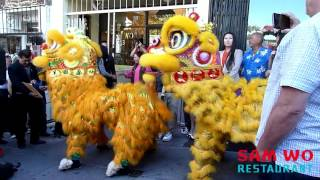 Lion Dance Me Performing at Sam Wo's Grand Reopening