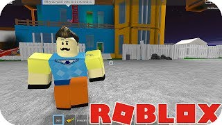 🐷 ESCAPE FROM THE NEIGHBOR IN HELLO NEIGHBOR - ROBLOX EACH