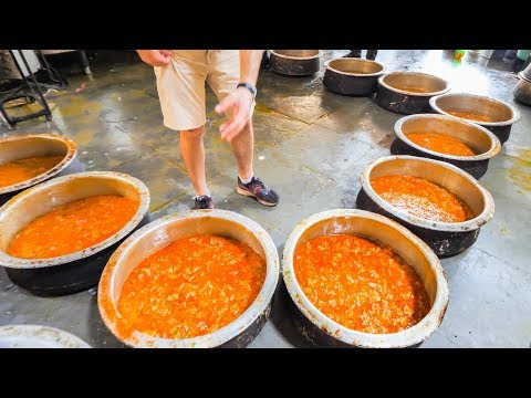 Indian Street Food FACTORY - Enter Street Food HEAVEN - Hyderabad, India - BEST Street Food in India