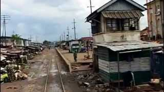 TRAIN JOURNEY THROUGH LAGOS,NIGERIA