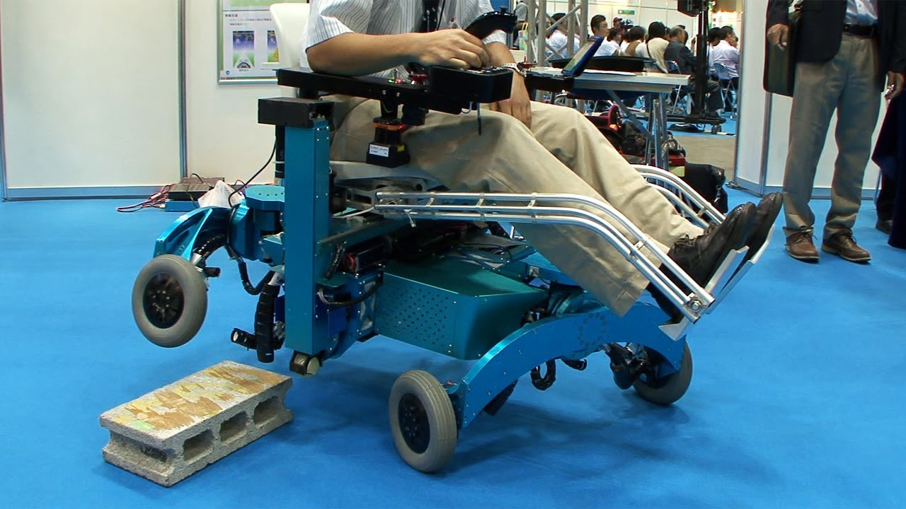 Robotic wheelchair from Chiba Tech turns wheels into legs and climbs over  steps #DigInfo - YouTube