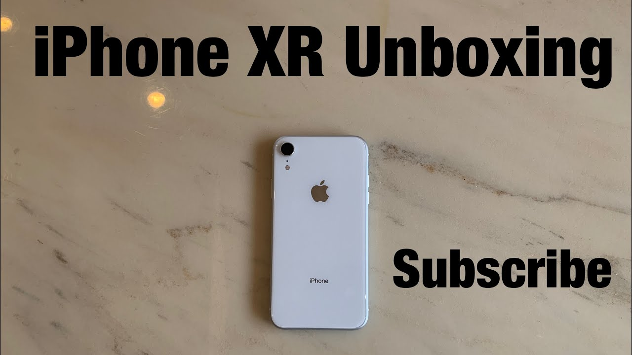 iPhone XR unboxing (white) 128gb - YouTube