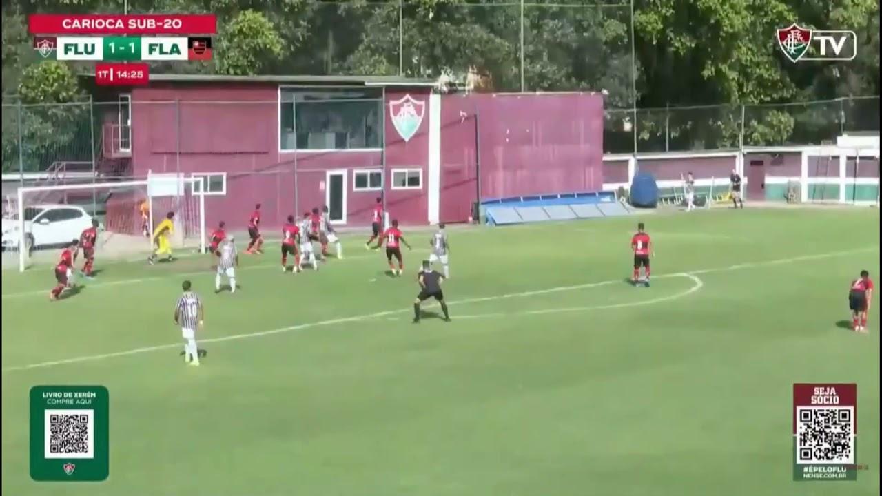Fluminense 4x1 Flamengo - Final do Carioca Sub-20 (jogo de ida)