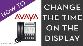 Avaya Partner programming:Changing the Time