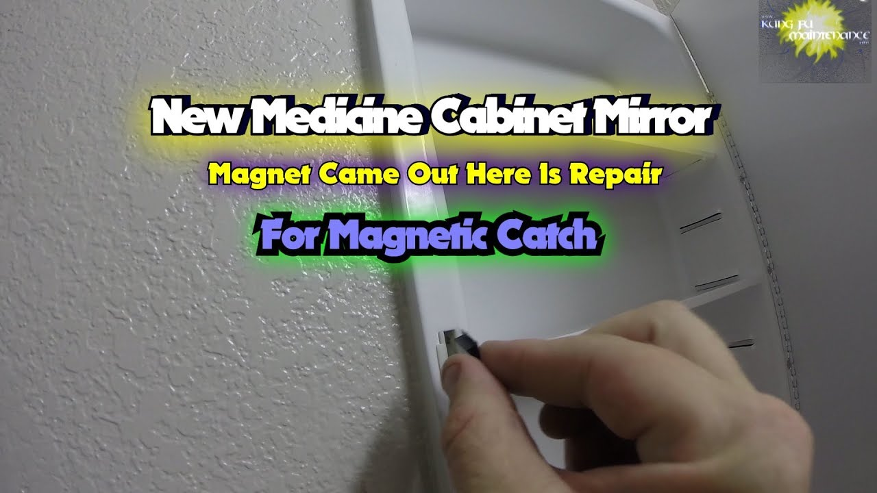 New Medicine Cabinet Mirror Magnet Came Out Here Is Repair For Magnetic Catch - YouTube & New Medicine Cabinet Mirror Magnet Came Out Here Is Repair For ...