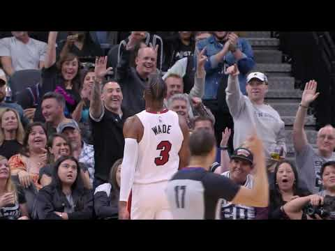 Dwyane Wade Hits Half-Court Heave In San Antonio At The Buzzer, Gets Standing Ovation