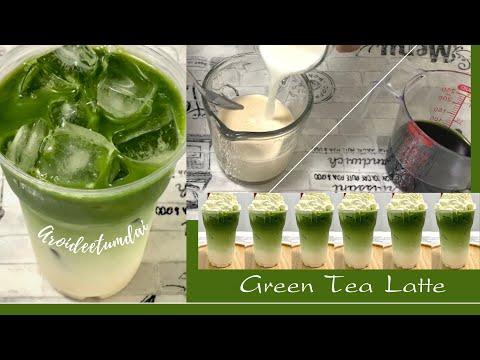 ชาเขียวลาเต้ GREEN TEA LATTE อยู่บ้านก็ทำเองได้ ง่ายๆ / อร่อยดีทำได้