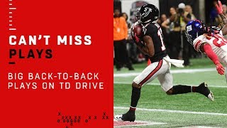 Huge Back-to-Back Plays on Falcons TD Drive!