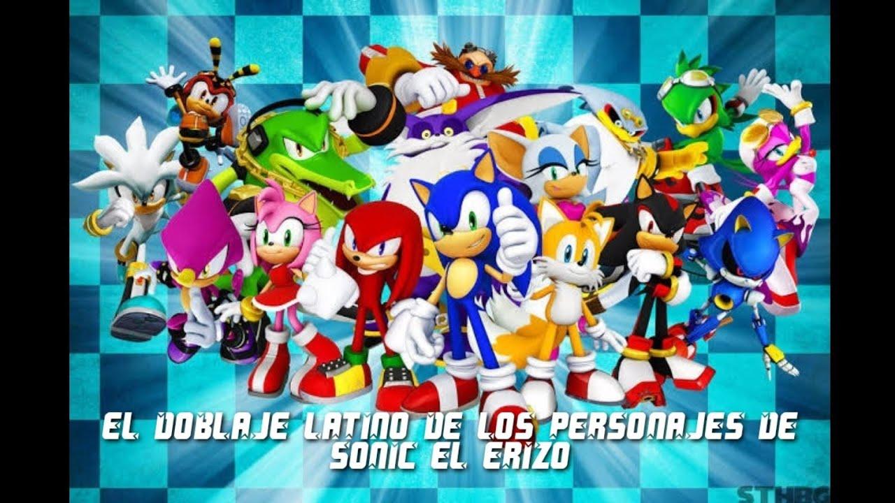 El Doblaje Latino De Los Personajes De Sonic El Erizo (Doblaje Deseado)