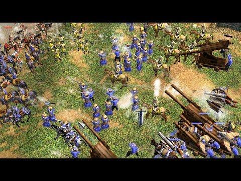 世紀帝國3 ESO連線對戰2vs2,中國人海戰術屯積資源,奧利諾科條約戰 - YouTube
