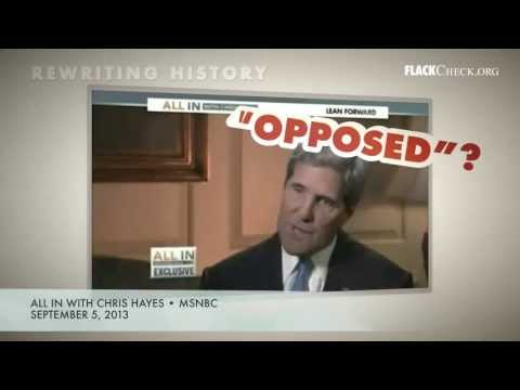 Rewriting History: Kerry on Voting Record for Military Action in Iraq