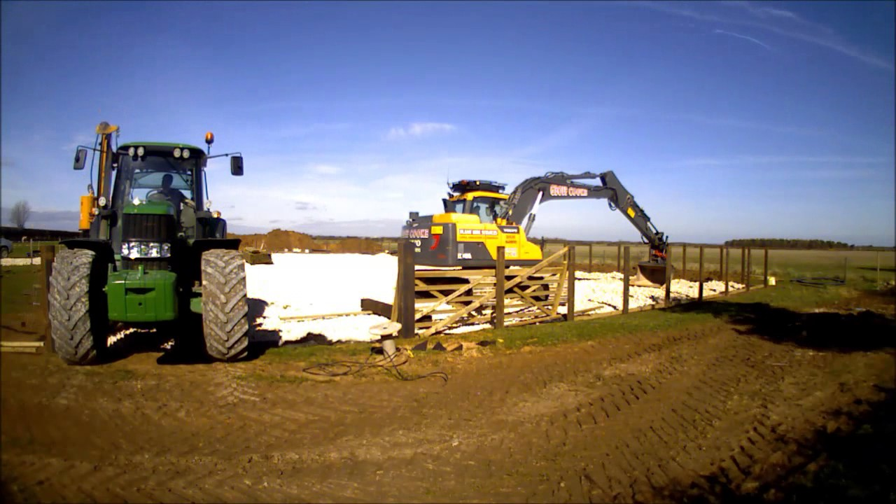 New Equestrian Horse Arena construction ( manege) built by Steve Hill of  Geoff cooke Arenas