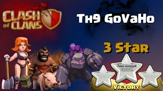 Clash of Clans | TH9 GoVaHo Attack Strategy - 3 Star War Raid in Clash of Clans