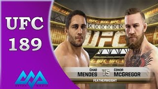 conor mcgregor vs chad mendes 2015 highlights ufc 189