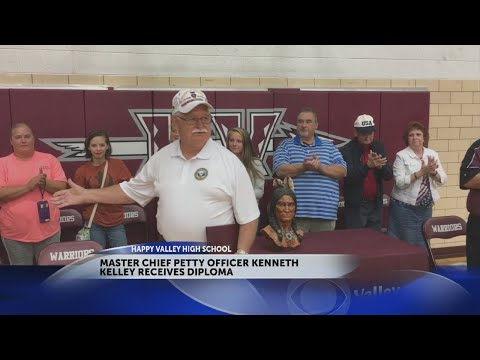 Happy Valley High School honors former student with high school diploma