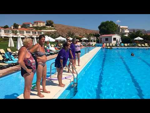 Wet T shirt pool race on our hosted group holiday to the Lesvos Festival