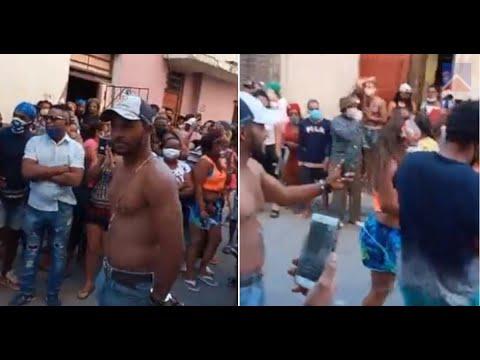 Cubanos entonan 'Díaz Canel singa-o' y 'Patria y Vida' junto al MSI