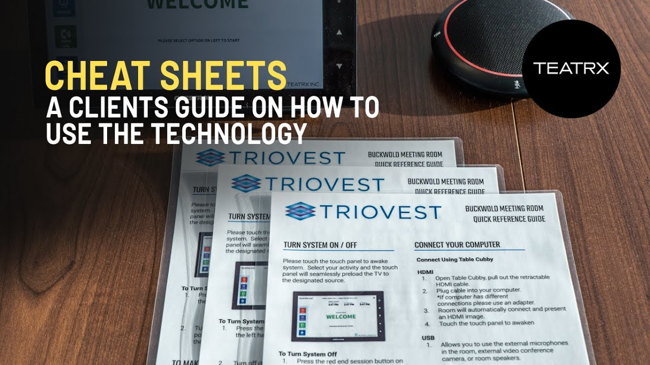 How do you work this system? - Cheat Sheets