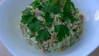 Салат для мужчин!  С сыром косичка, ветчиной,куриным мясом. Очень сытный и нереально вкусный