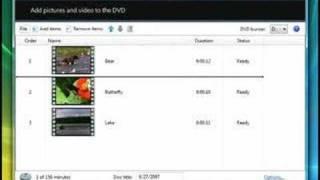 Burn a DVD Video disc with Windows DVD Maker