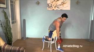 Упражнение на бицепс в домашних условиях. Видео урок