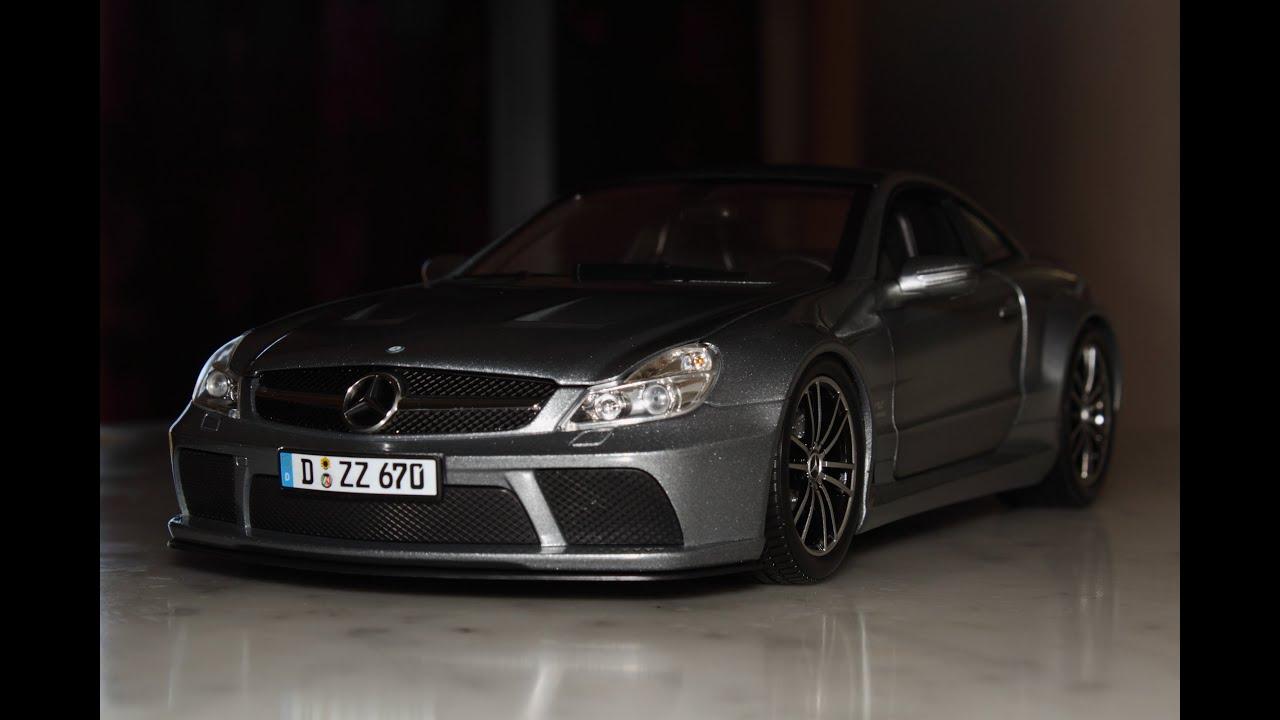 118 Mercedes Benz SL 65 AMG Black Series dark grey by Minichamps
