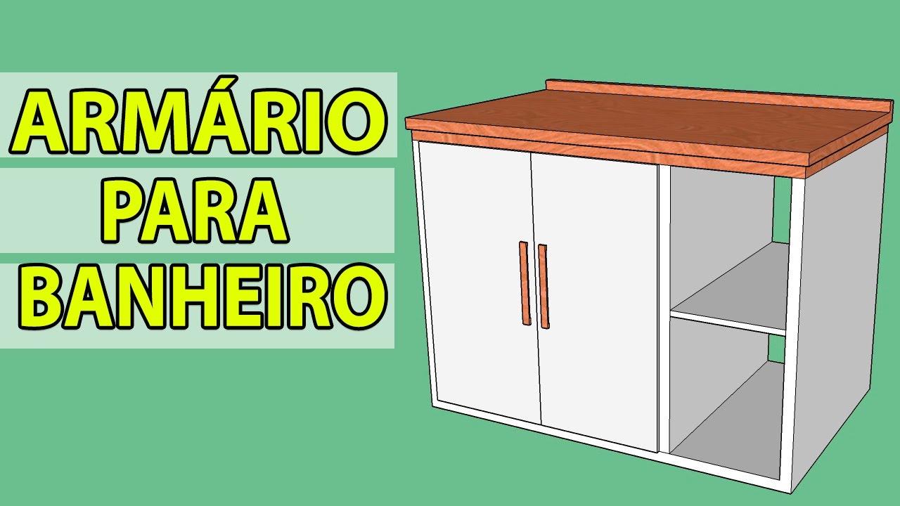 Como desenhar um Armário para Banheiro  SKETCHUP  YouTube -> Pia Para Banheiro Sketchup
