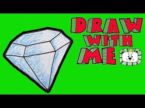 How To Draw a Diamond. Learning Coloring Pages for Kids. LEON ART