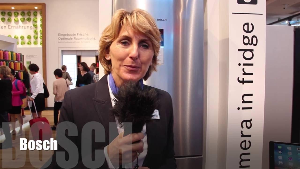 Bosch Kühlschrank Mit Kamera : Ifa präsentation des bosch kühlschrank mit home connect app youtube