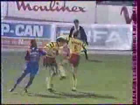 SM Caen - RC Lens (Saison 1991-1992 - 21ème Journée) -  1ère mi-temps