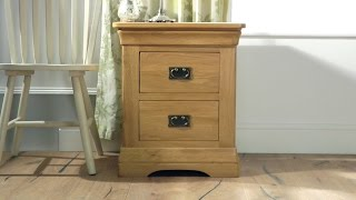 Farmhouse Country Oak Bedside Table