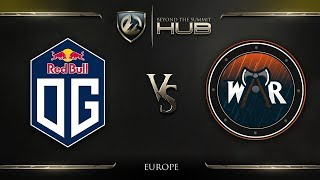 OG vs Wind and Rain Game 1 - TI8 Europe Regional Qualifiers: Grand Finals