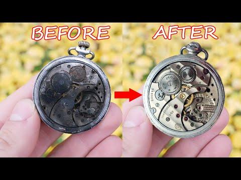 Restoration Of An Old Pocket Watch 1945