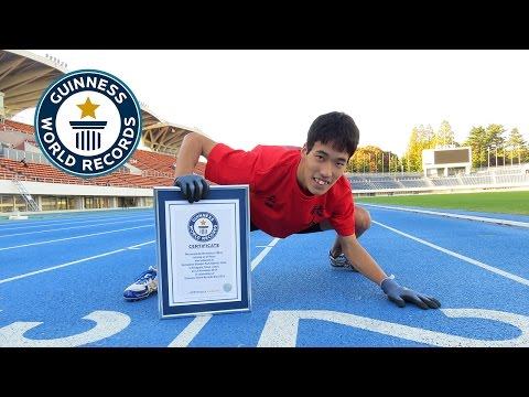 Guinness World Records Day 2014 - Fastest 100m On All Fours