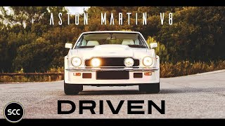 ASTON MARTIN V8 Coupé 1977 - Full test drive in top gear - Engine sound | SCC TV