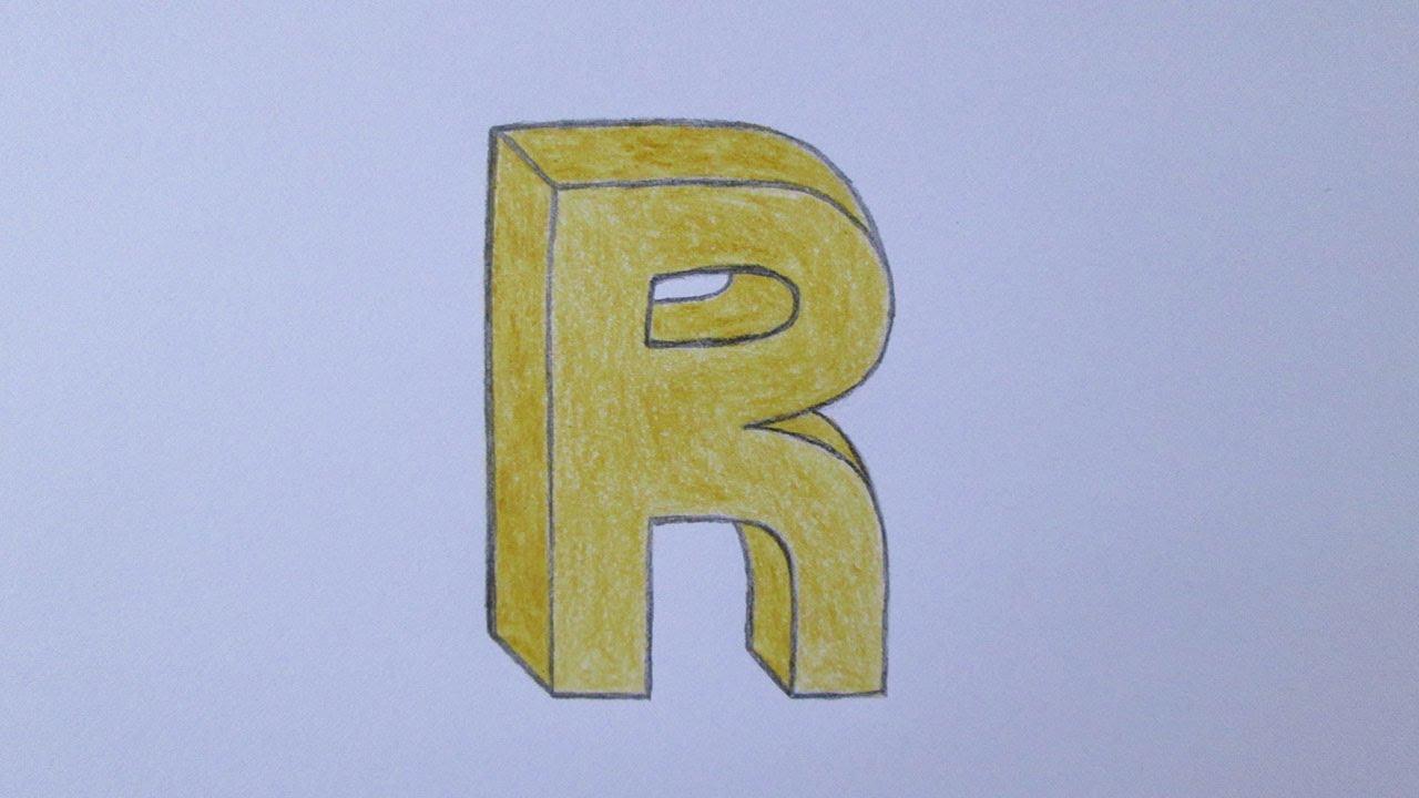 Cómo dibujar la letra R YouTube